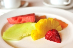 Colorful fruits for dessert